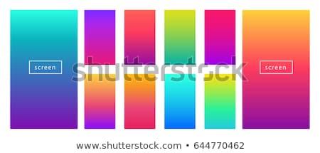 Gradiens absztrakt rajz szín téglalap keret Stock fotó © marinini