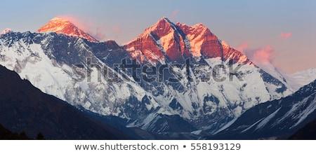 日没 山 エベレスト ネパール 旅行 山 ストックフォト © THP