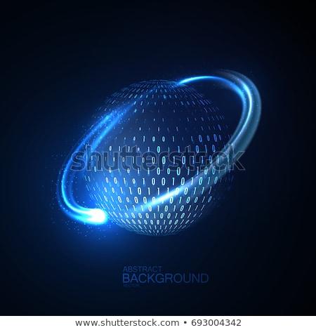 glowing light sphere technologic electronic circuit stock photo © lunamarina