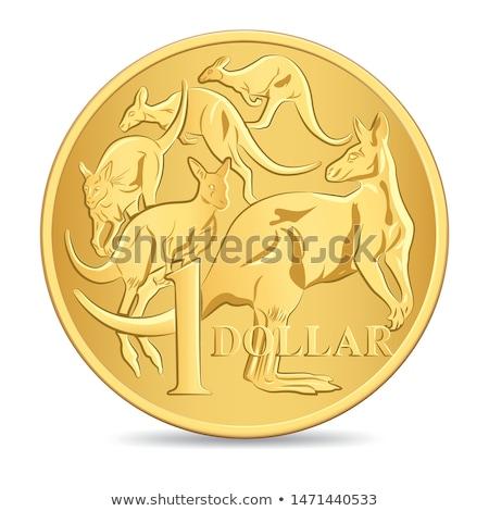one dollar coin vector illustration Stock photo © konturvid