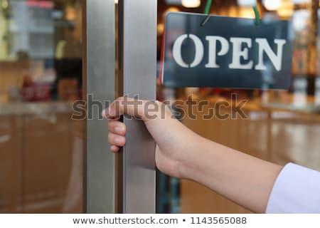 Vásárlás belépés kulcs gomb fehér billentyűzet Stock fotó © REDPIXEL