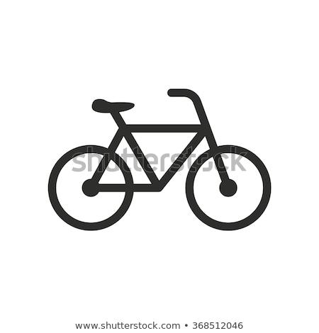 bicicleta · assinar · estrada · símbolo · pintado - foto stock © luissantos84