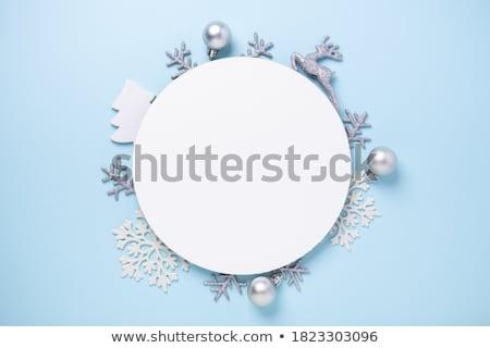 Noel süs mavi top model çam Stok fotoğraf © Tomjac1980