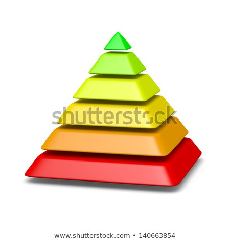 6 levels pyramid structure environment concept Stock photo © make