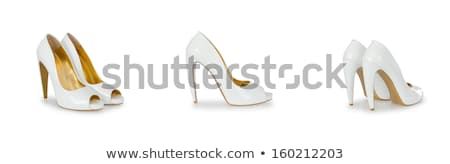Composite photo of woman shoes isolated on white Stock photo © Elnur