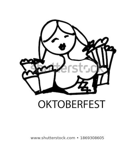 cerveja · oktoberfest · ilustração · lata · usado · bar - foto stock © jackybrown
