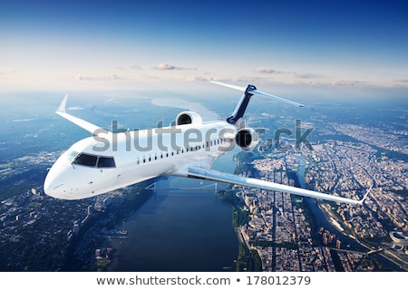 Jet plane going to land Stock photo © c-foto