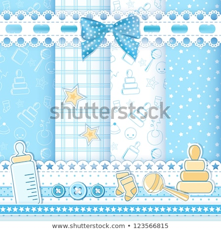 set of seamless baby ribbons stock photo © elenapro