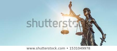 Igazság hölgy reflektor törvény kard női Stock fotó © andromeda