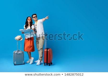 girl with baggage Stock photo © OleksandrO