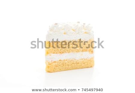 Vainilla torta primer plano azul textura cumpleanos Foto stock © OleksandrO