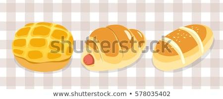 バター 茶 深い ピンク テーブルクロス デザート ストックフォト © fotogal