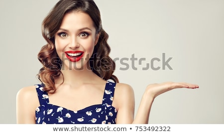 Blond with red lips Stock photo © lubavnel