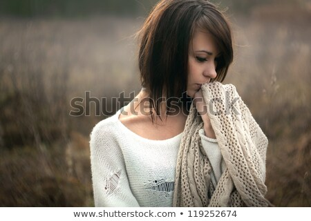 привлекательный · печально · девушки · чемодан · молодые · красивой - Сток-фото © Aikon