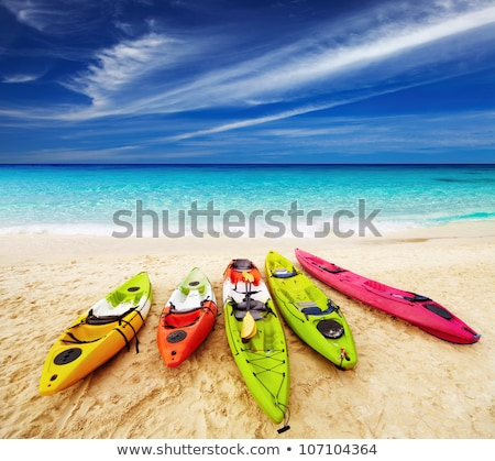 Colorful kayaks on beach in Thailand Stock photo © master1305