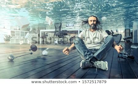 человека · бассейна · подводного · воды · счастливым · спорт - Сток-фото © paha_l