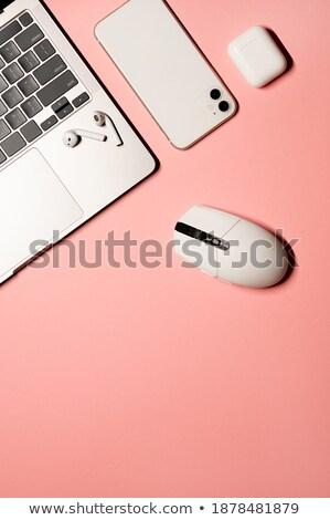 computer · stazione · di · lavoro · isolato · monitor · tastiera · mouse - foto d'archivio © shutswis