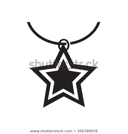 Nyaklánc ikon illusztráció terv szeretet szépség Stock fotó © kiddaikiddee