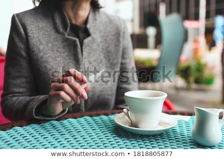 Conversation with cigarette Stock photo © simply