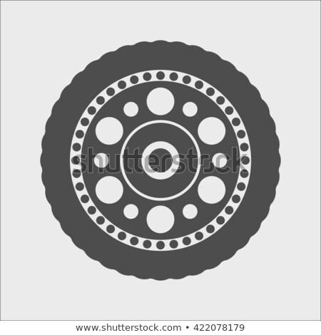 coche · aluminio · rueda · aislado - foto stock © goce