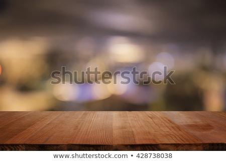 Focus tavolo in legno parola ufficio scuola vetro Foto d'archivio © fuzzbones0