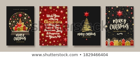 Christmas Card, Baubles on a Snowflake Background Stock photo © fenton