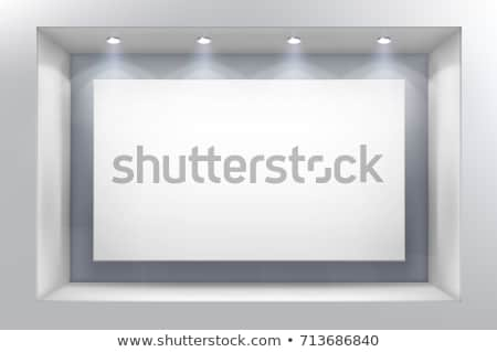 empty display frame with spot light Stock photo © SArts