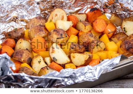 Pasta with grilled veggies Stock photo © vertmedia