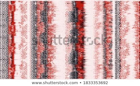 kurtyny · czerwony · niebieski · kolory · okno · wnętrza - zdjęcia stock © bbbar