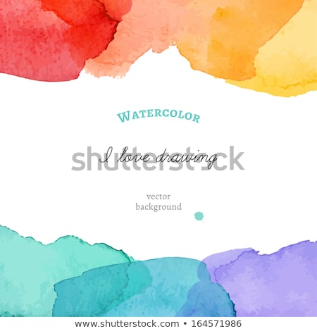 stylish watercolor stain vector background Stock photo © SArts