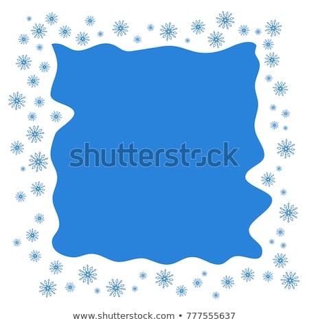 Płatki śniegu retro ramki szczęśliwy streszczenie projektu Zdjęcia stock © SwillSkill