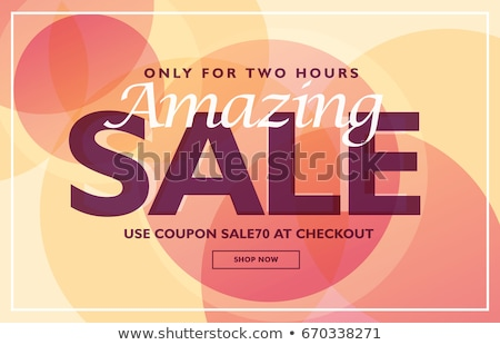 amazing sale banner template design with soft colors stock photo © sarts