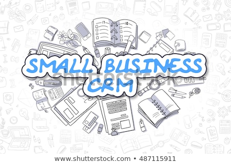 Małych firm crm gryzmolić projektu ikona klienta Zdjęcia stock © tashatuvango
