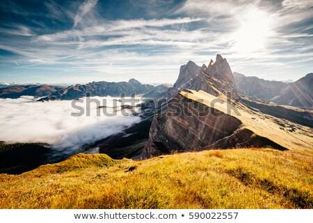 Luchtfoto alpine vallei plaats zonlicht groot Stockfoto © Leonidtit