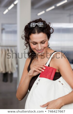 женщину кошелька назад сумку торговых очки Сток-фото © IS2