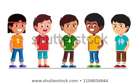 Pequeno caucasiano menino vetor ilustrações conjunto Foto stock © RAStudio