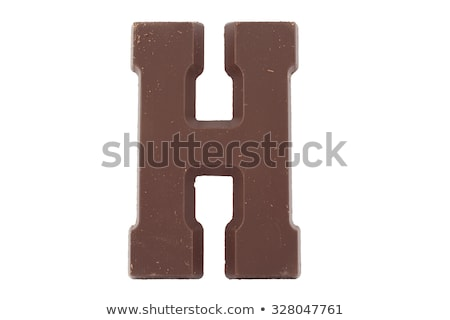 Letter H Chocolate font. sweetness alphabet. Liquid lettering. S Stock photo © MaryValery