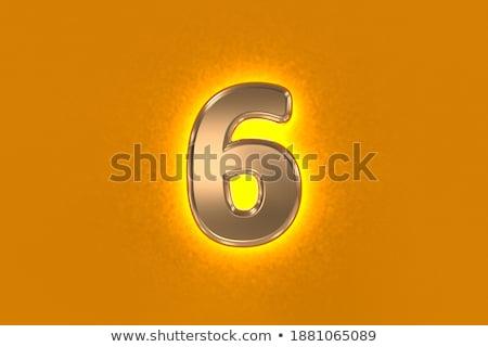 Establecer cartas números símbolos oro bares Foto stock © user_11870380