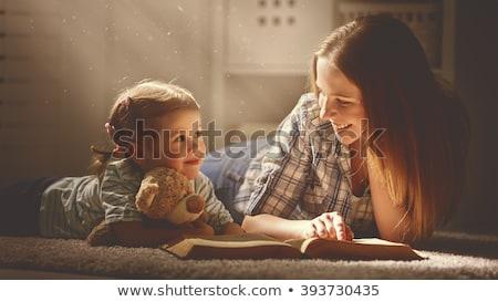 mère · petite · fille · école · Homme · enseignants - photo stock © pressmaster
