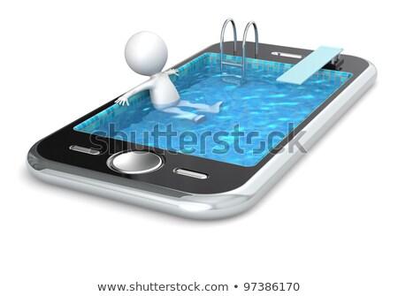 Yüzme havuzu telefon kablo Stok fotoğraf © IS2