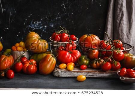 Domates rustik tablo renkli domates Stok fotoğraf © Virgin