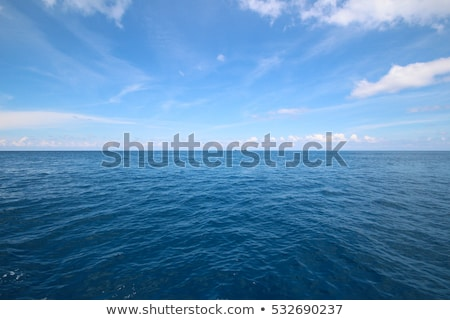 Niebieski morza horyzoncie widoku wody Zdjęcia stock © boggy