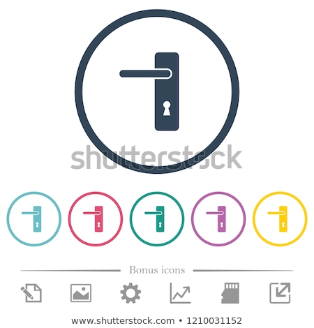Viselet emelő zár ikon vektor izolált Stock fotó © smoki