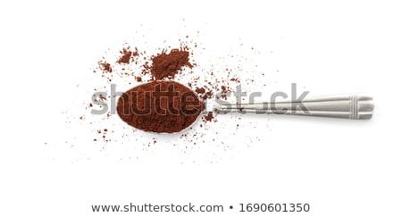 pó · pequeno · branco · tigela · isolado · chocolate - foto stock © bdspn
