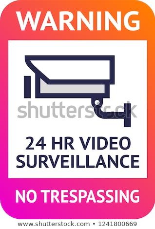 Video surveillance 24hr, cctv poster for print Stock photo © Ecelop