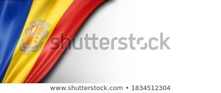 zászló · fehér · citromsárga · kék · piros · szalag - stock fotó © daboost