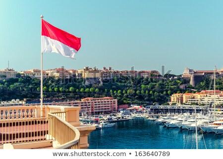 Maison pavillon Monaco rangée blanche maisons Photo stock © MikhailMishchenko