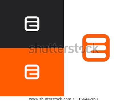 Letter E Logo. E Letter Design Vector Stock photo © twindesigner
