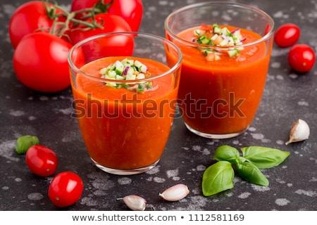 Porción mesa de madera alimentos placa color tomate Foto stock © Alex9500