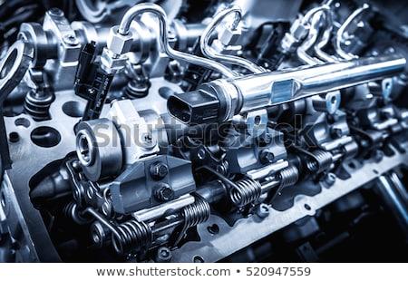 Autóipari autó gép alkatrészek közelkép fej Stock fotó © simazoran